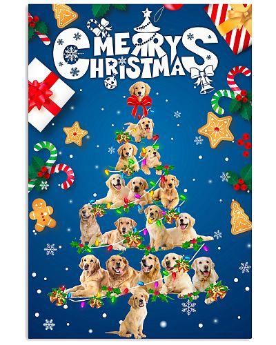 Golden Retriever-Merry Christmas