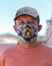 Yorkshire Terrier-Blue Mask Cloth face mask aos-face-mask-lifestyle-06