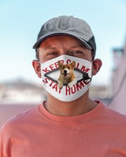 Corgi-Mask-Stay Home Cloth face mask aos-face-mask-lifestyle-06