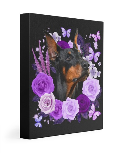 Doberman-02-Canvas Purple