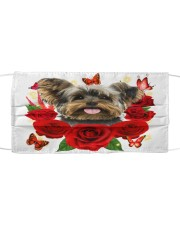 Yorkshire Terrier-Face Mask-Rose Cloth face mask front