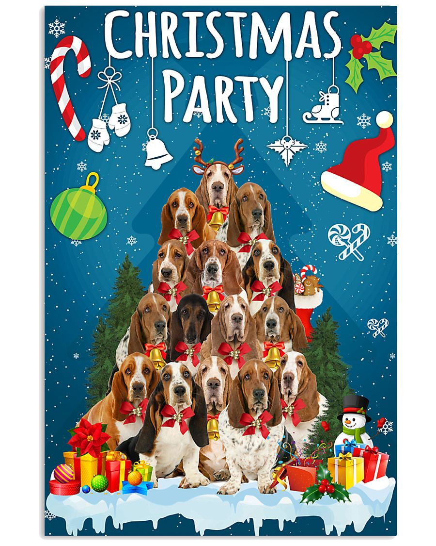 Basset Hound - Party 24x36 Poster