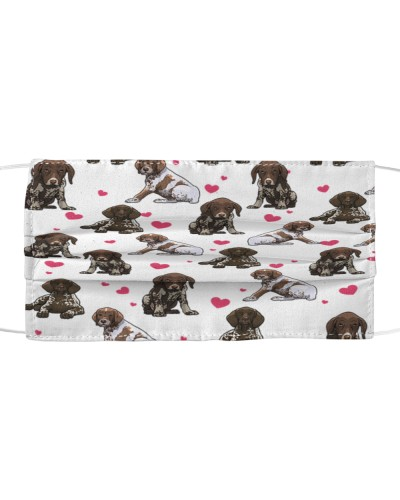 German Shorthaired Pointer-Face Mask-Heart