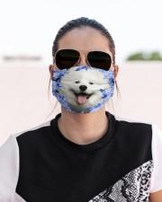 Samoyed-Blue Mask Cloth face mask aos-face-mask-lifestyle-02