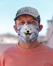 Samoyed-Blue Mask Cloth face mask aos-face-mask-lifestyle-06