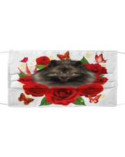 Keeshond-Face Mask-Rose Cloth face mask front