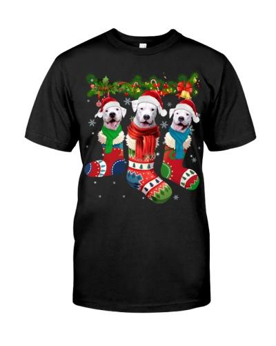 Dogo Argentino-Christmas Sock