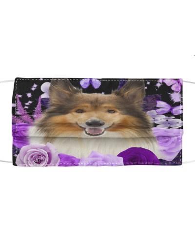 Rough Collie-Face Mask-Purple