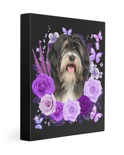 Tibetan Terrier-Canvas Purple