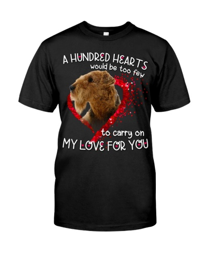 Airedale Terrier-Hundred Hearts