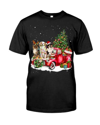 Australian Shepherd-Christmas Car