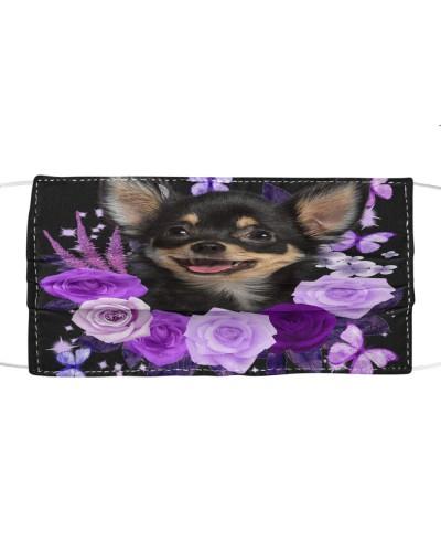 Chihuahua-Face Mask-Purple