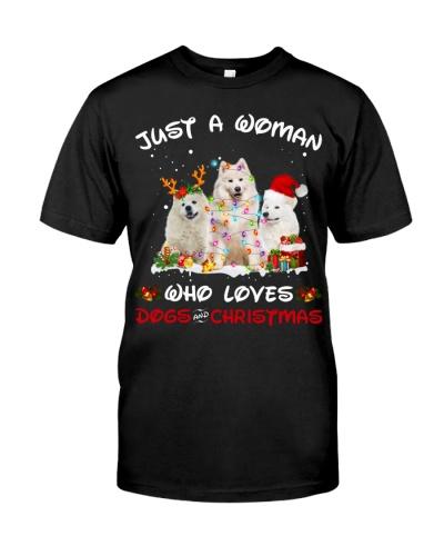 Samoyed-Woman-Christmas