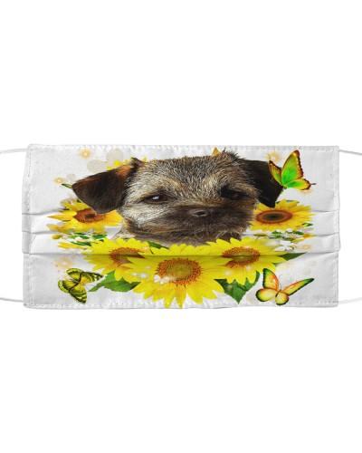 Border Terrier-Face Mask-Sunflower