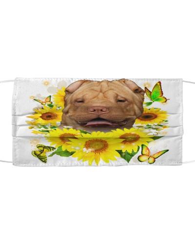 Shar Pei-Face Mask-Sunflower