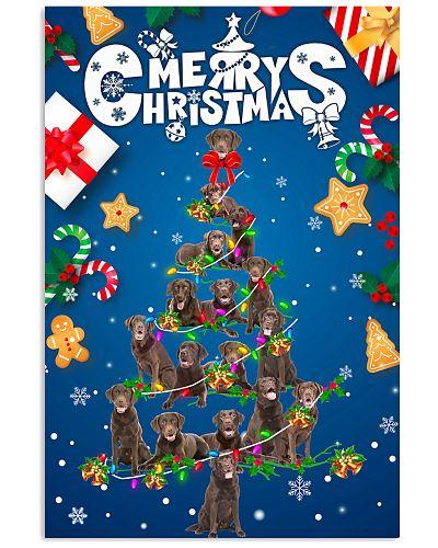 Chocolate Labrador-Merry Christmas