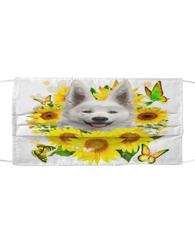 Berger Blanc Suisse-Face Mask-Sunflower