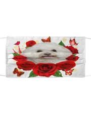 Bichon Frise-Face Mask-Rose Cloth face mask front