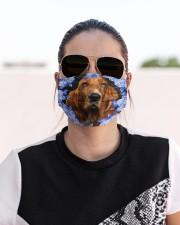 Basset Hound-Blue Mask Cloth face mask aos-face-mask-lifestyle-02