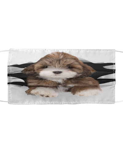 Lhasa Apso-Face Mask-Torn03