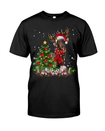 Flat Coated Retriever-Reindeer