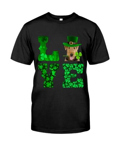 Airedale Terrier-Love-Shamrock
