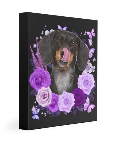 Dachshund-Canvas Purple