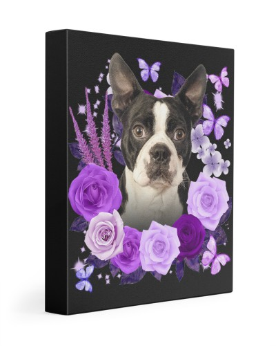 Boston Terrier-Canvas Purple