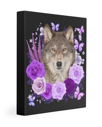 Wolf-Canvas Purple