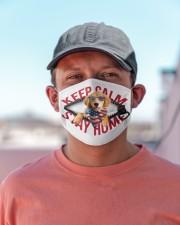 Golden Retriever-US-Keep Calm Cloth face mask aos-face-mask-lifestyle-06