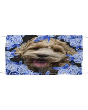 Labradoodle-Blue Mask Cloth face mask front