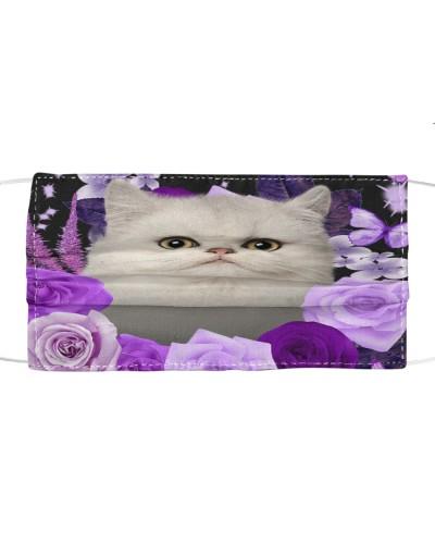Persian Cat-02-Face Mask-Purple