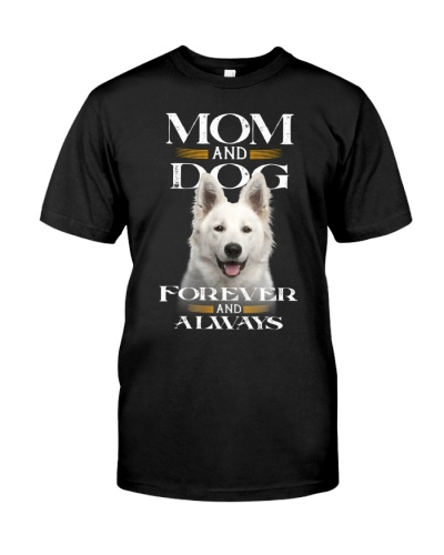 Berger Blanc Suisse-Mom And Dog