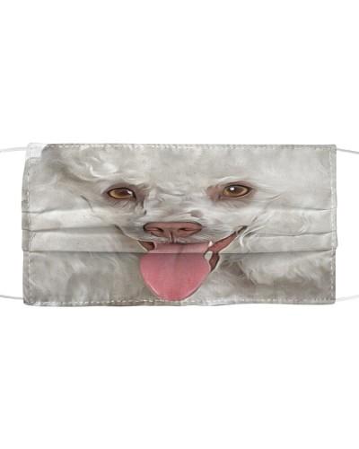 Poodle-White-Face Mask