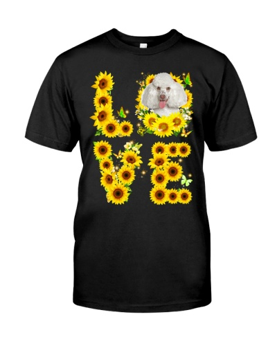 Poodle-White-Love Sunflower