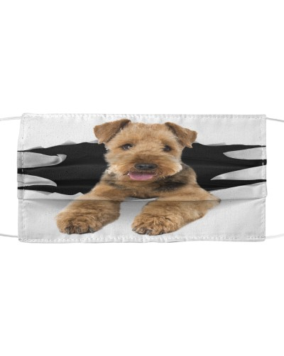 Airedale Terrier-Face Mask-Torn03