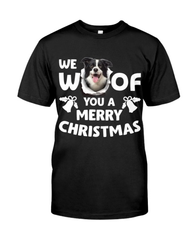 Border Collie-Merry Xmas