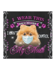 Pomeranian-My Mouth Cloth face mask aos-face-mask-coverlet-lifestyle-front-02