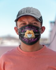 Pomeranian-My Mouth Cloth face mask aos-face-mask-lifestyle-06