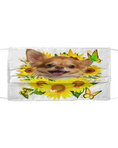 Chihuahua-02-Face Mask-Sunflower