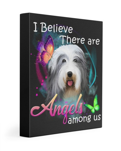 Bearded Collie-Art-Canvas Angels
