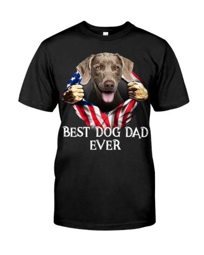 Weimaraner-Dog Flag-Dad