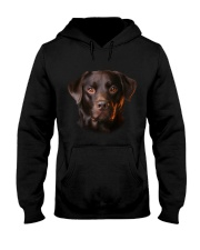 Labrador-Chocolate - Only Face Hooded Sweatshirt thumbnail