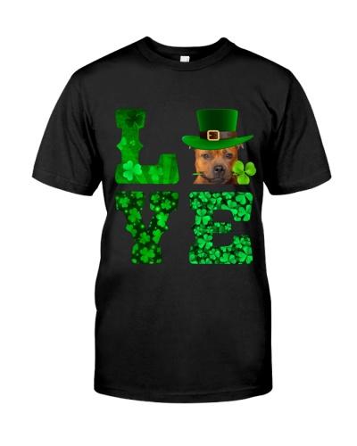 Staffordshire Bull Terrier-Love-Shamrock