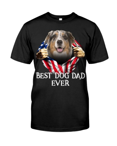 Australian Shepherd-Dog Flag-Dad