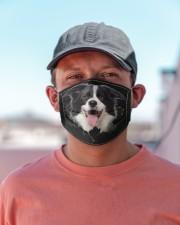 Border Collie-Hole Crack Cloth face mask aos-face-mask-lifestyle-06