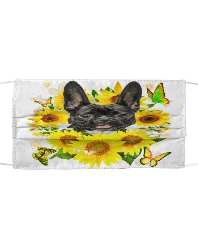 French Bulldog-02-Face Mask-Sunflower