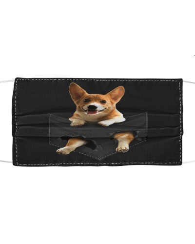 Corgi-Face Mask-Pocket