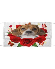Beagle-Face Mask-Rose Cloth face mask front
