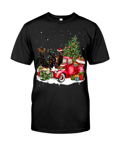 Flat-Coated Retriever-Christmas Car
